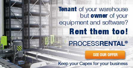 Tenant of your warehouse but owner of your equipment and software? Rent them too! PROCESSRENTAL